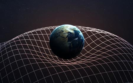 중력 파도 그림입니다. 스톡 콘텐츠