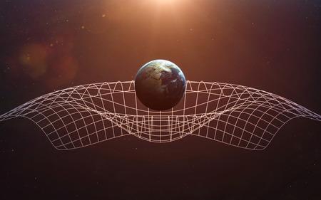Gravitational Waves illustration.