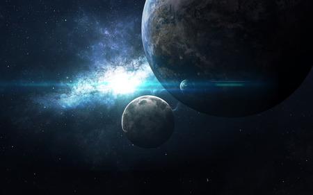 galaxie: Planeten über den Nebeln im Raum. Diese von der NASA eingerichteten Bildelemente