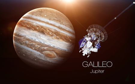 Jupiter - Galileo spacecraft. This image elements furnished by NASA. 스톡 콘텐츠