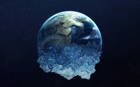 얼어 붙은 지구. NASA에서 제공 한이 이미지 요소