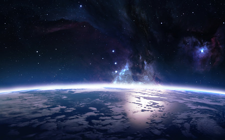 View of earth from space. Elements of this image furnished by NASA Stock Photo
