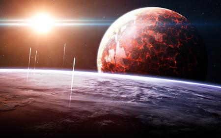 nebula: Infinite space background with nebulas and stars. Stock Photo