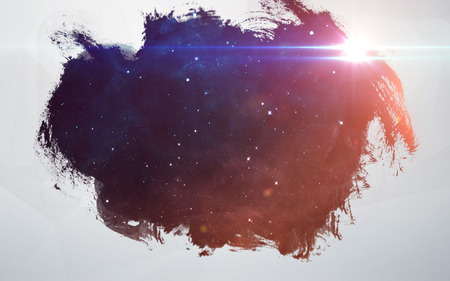 Water splashes at deep space background. Artistic design for cards and posters.