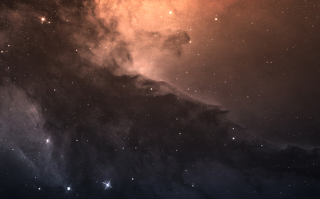 conceiving: Starfield in deep space many light years far from the Earth.