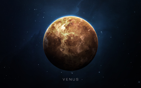 planeten: Venus - Hochauflösende 3D-Bilder präsentiert Planeten des Sonnensystems. Lizenzfreie Bilder