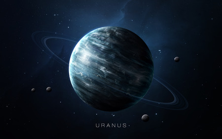 Uranus - High resolution 3D images presents planets of the solar system. Reklamní fotografie - 54300875