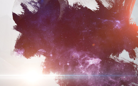wishlist: Water splashes at deep space background. Artistic design for cards and posters.
