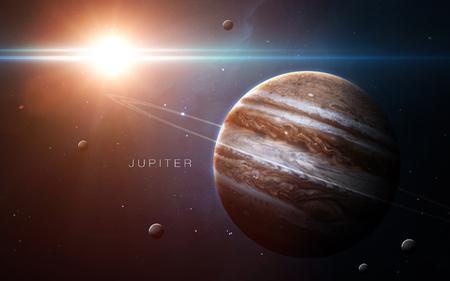 Jupiter - Hoge resolutie 3D-beelden presenteert planeten van het zonnestelsel.