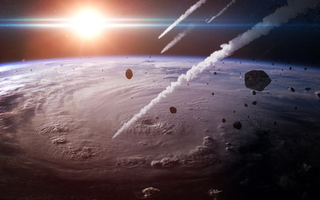 atmosfera: lluvia de meteoros en la atm�sfera de la Tierra.