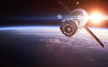 Nave espacial de lanzamiento al espacio. Foto de archivo - 54902967
