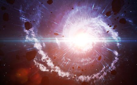 深宇宙、地球から遠く離れた多くの光年の宇宙。