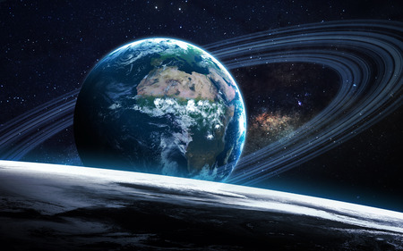 earth space: View of earth from space.