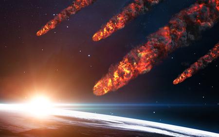 Lluvia de meteoros. Los elementos de esta imagen proporcionada por la NASA Foto de archivo