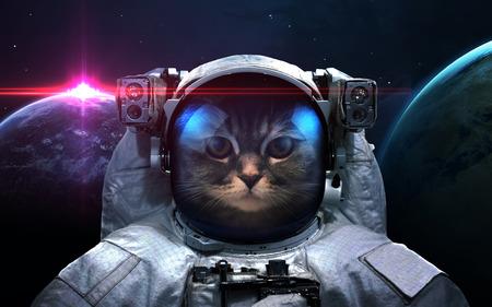 Astronaut in de ruimte. Ruimteloop. Elementen van deze afbeelding geleverd door NASA