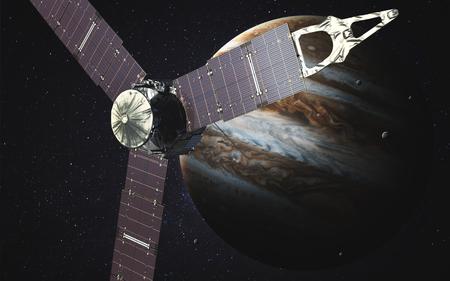sattelite: Juno sattelite orbiting Jupiter.