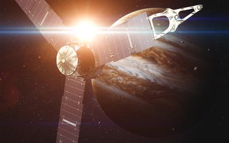 orbiting: Juno sattelite orbiting Jupiter.