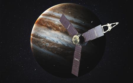 Juno Raumschiff und Jupiter.
