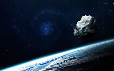 추상 과학 배경 - 공간, 성운과 별에서 행성.