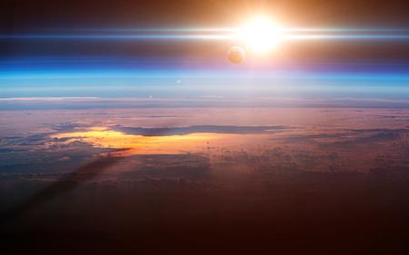 Earth sunrise.