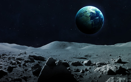 triton: View of Earth from moon.