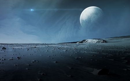 Vista de Plutón, Caronte.