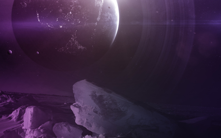 Deep space art. Nebulaes, planets galaxies and stars in beautiful composition. Awesome for wallpaper and print. 写真素材