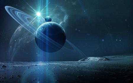 抽象的な科学的背景 - 宇宙、星雲、星の惑星。このイメージの NASA nasa.gov によって供給の要素
