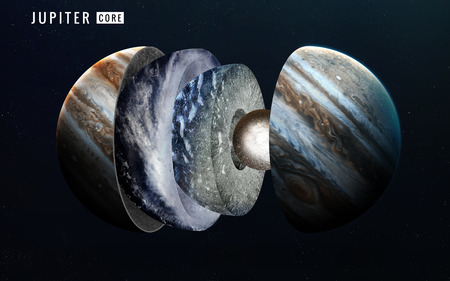 lithosphere: Jupiter inner structure. Elements of this image furnished by NASA