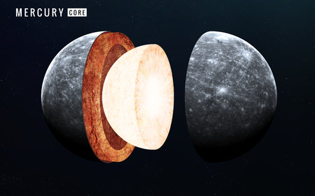 solid: Mercury inner structure. Elements of this image furnished by NASA Stock Photo