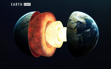 earth core: Earth inner structure. Stock Photo