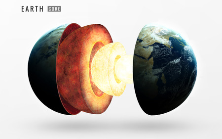 lithosphere: Earth inner structure. Stock Photo