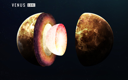 Venus inner structure.