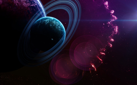 galaxies: Deep space art. Nebulas, planets galaxies and stars in beautiful composition. Awesome for wallpaper and print.