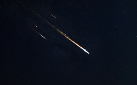 Meteor shower.