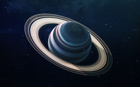 Saturn - High resolution beautiful art presents planet of the solar system.