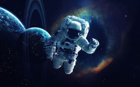 Arte cósmico, papel pintado de la ciencia ficción. Belleza del espacio profundo. Miles de millones de galaxias en el universo. Elementos de esta imagen proporcionados por la NASA Foto de archivo