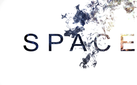 nebulae: Modern space art. Dust of universe, smoke, isolated on clear white background. Stock Photo