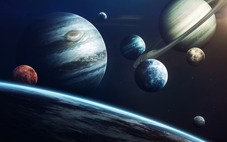 Planets of Solar system. Elements of this image furnished by NASA Stockfoto