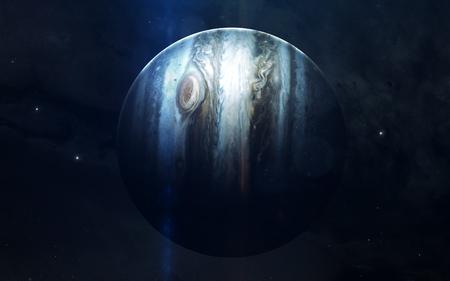 Immagine realistica di Giove, pianeta del sistema solare. Immagine educativa Elementi di questa immagine fornita dalla NASA Archivio Fotografico - 78813222