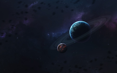 Unexplored planets of faraway space. Deep space image, science fiction fantasy in high resolution ideal for wallpaper and print. Elements of this image furnished by NASA Stock fotó