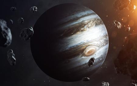 Jupiter. Planets of solar system visualisation.
