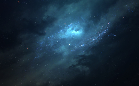 Nebula somewhere in Milky way. Deep space image, science fiction fantasy in high resolution ideal for wallpaper and print. Standard-Bild
