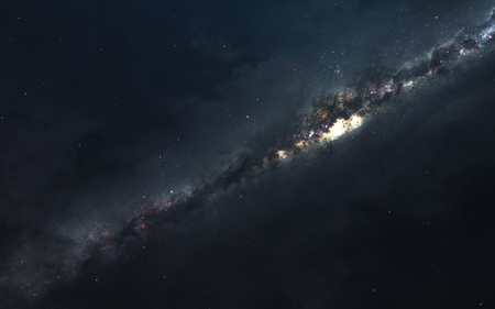 Milky way. Starfields of endless cosmos. Elements of this image furnished by NASA