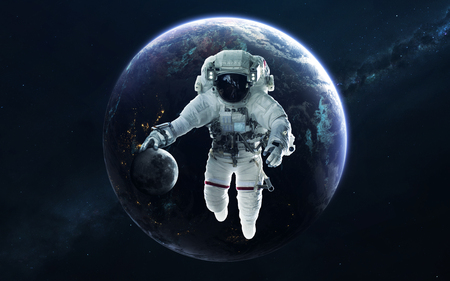 Earth, beautiful science fiction wallpaper with endless deep space. Reklamní fotografie