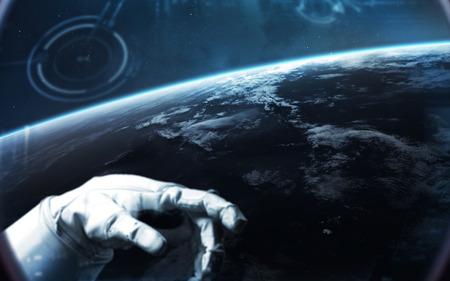 Brave astronaut at the spacewalk.