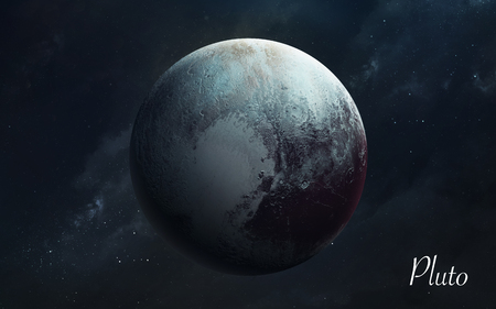 Pluto. Awesome quality planets of solar system. Perfect science image