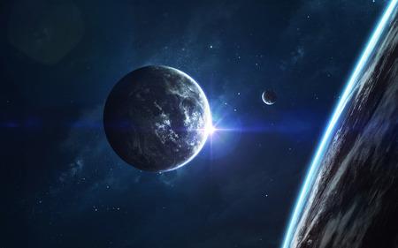 Cosmic landscape, beautiful science fiction wallpaper with endless deep space. Reklamní fotografie