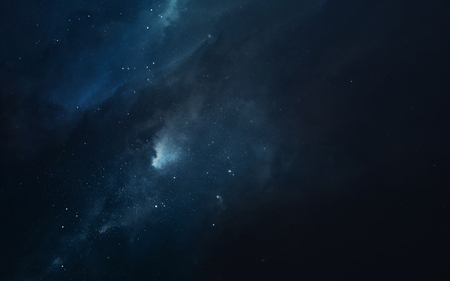 Cosmic landscape, beautiful science fiction wallpaper with endless deep space. 스톡 콘텐츠
