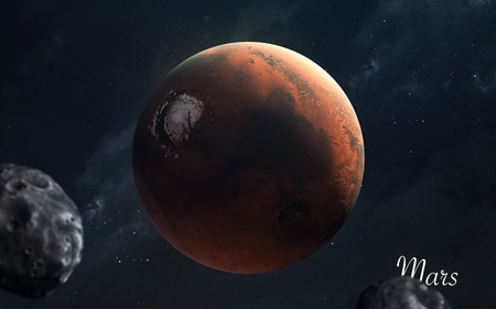 Mars. Awesome quality planets of solar system. Perfect science image